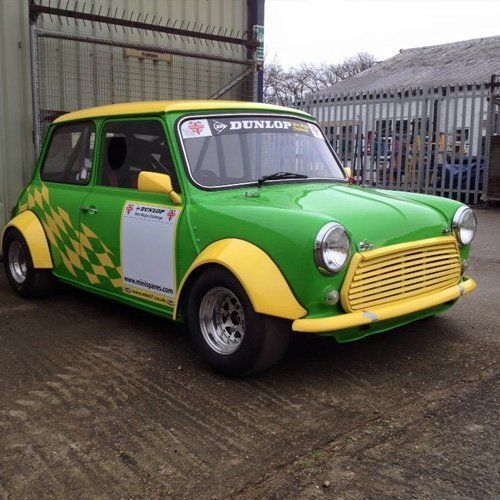 Green and yellow colour car