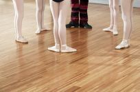 Wooden floor for ballet lessons