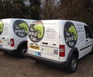 Two of our company vans