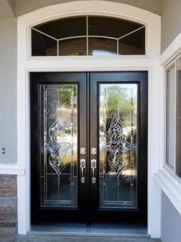 Black Front Door With Arch Window Above   Doors In Sacramento, CA