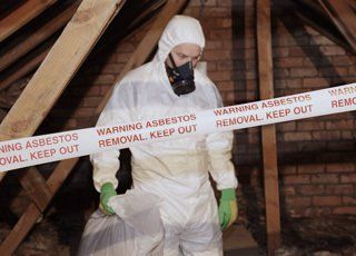 asbestos being removed