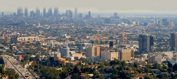 city scape of Los Angeles