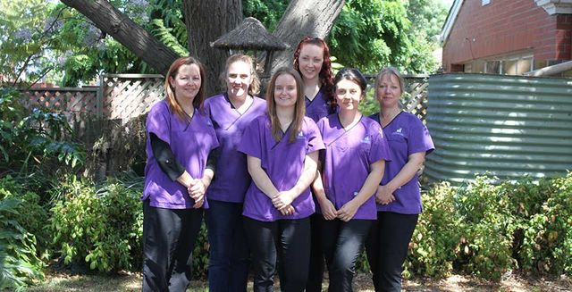 morphettville veterinary clinic staff members outside the clinic