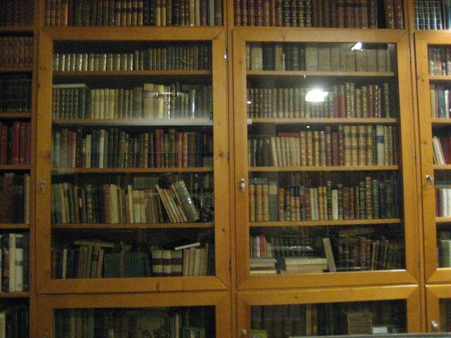 Primo piano di libri in una libreria