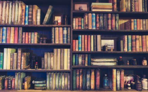 Scaffali ripieni di libri da leggere