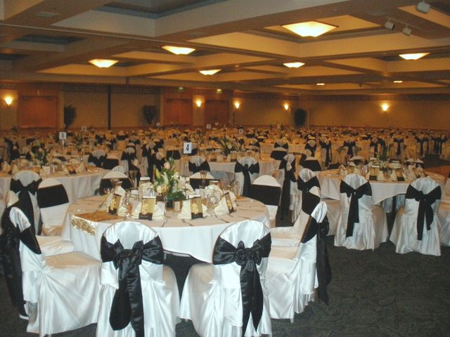 A well-prepared banquet party room