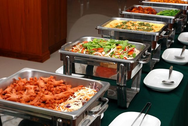 Banquet food ready for event