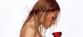 una ragazza con una treccia e dei capelli lisci color castano chiaro