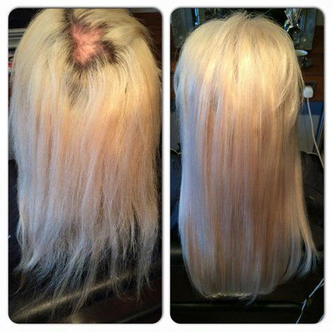 golden colour hair regrowth