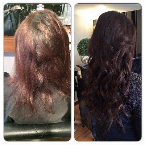 burgundy hair regrowth