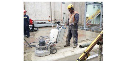 Concrete cutting at building site