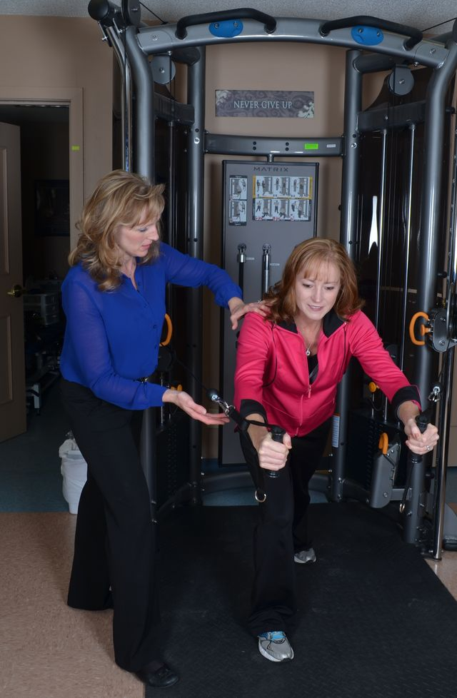 Physical therapy exercise in Mountain Home, AR