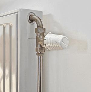 modern radiator showing  thermostat