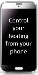 smartphone heating control