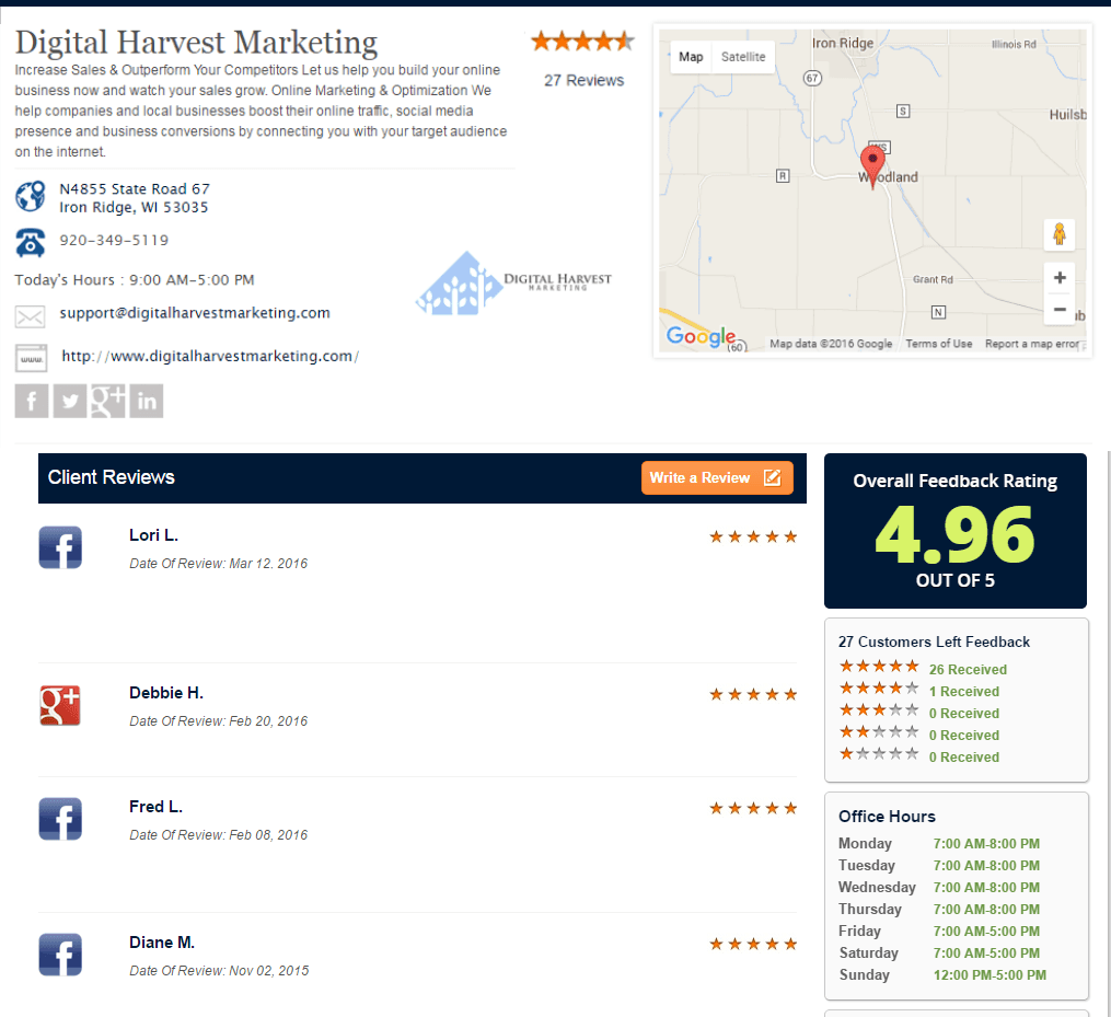 Digital Harvest Marketing | Online Marketing Solutions