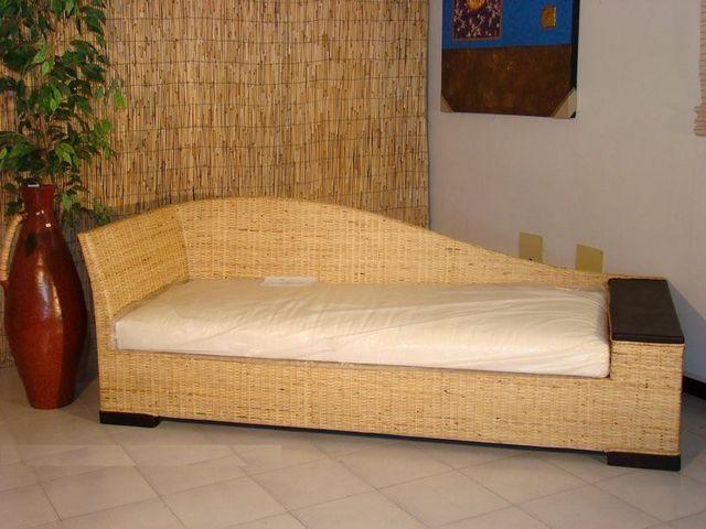 Divano Letto Midollino.Arredamento In Rattan Midollino Vimini Naturale In Bambu