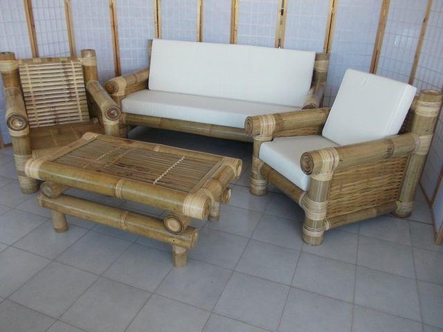 Salotto In Bamboo.Arredamento In Rattan Midollino Vimini Naturale In Bambu