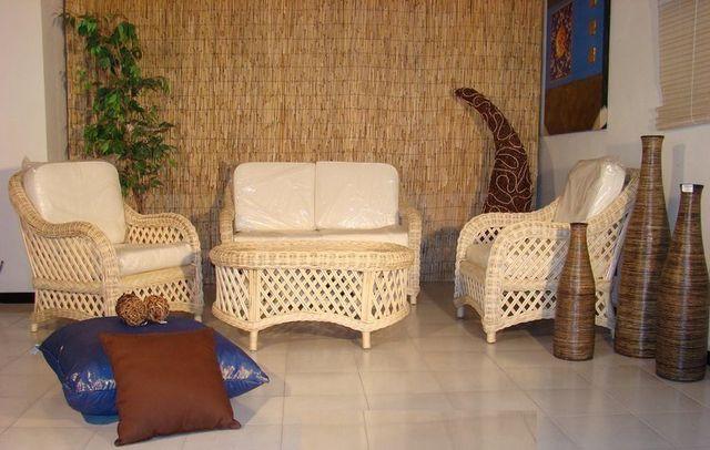 Mobili In Rattan Naturale.Arredamento In Rattan Midollino Vimini Naturale In Bambu