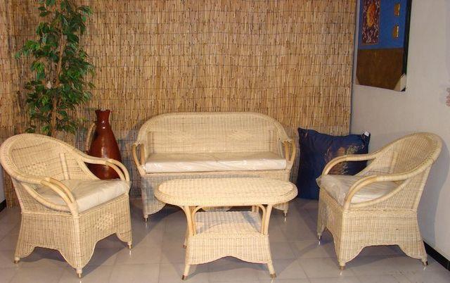 Salotti In Giunco.Arredamento In Rattan Midollino Vimini Naturale In Bambu