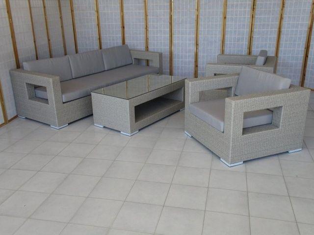 Mobili Rattan Sintetico Giardino.Rattan Sintetico Salotti Tavoli Poltrone Per Esterno