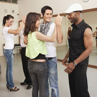 practicing dance