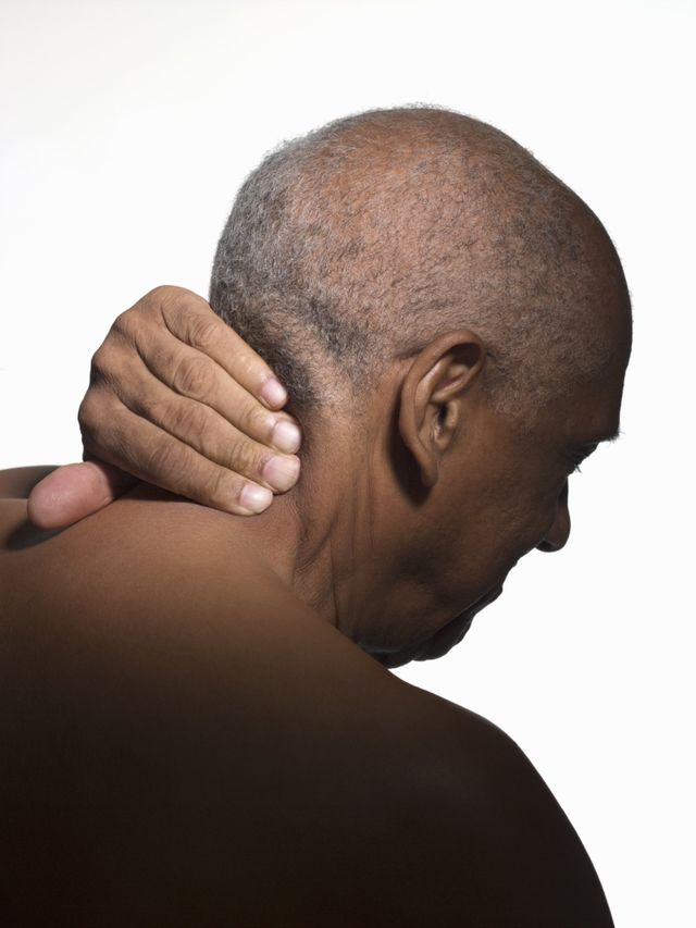 old man neck pain body massage