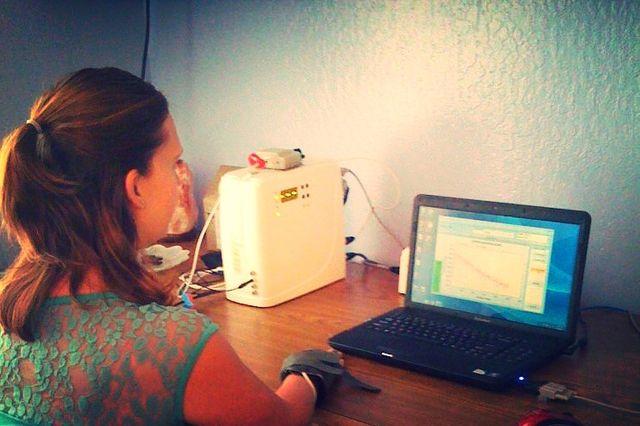 aura galvanic skin response assess imbalances woman body computer