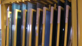Esposizione di campioni di vetro