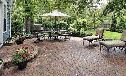 backyard paving