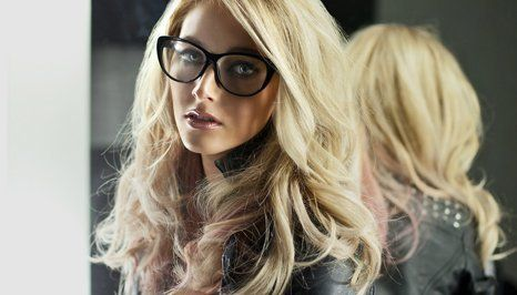 a lady with attractive opticals