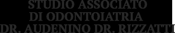 STUDIO ASSOCIATO DI ODONTOIATRIA DR. AUDENINO DR. RIZZATTI - LOGO
