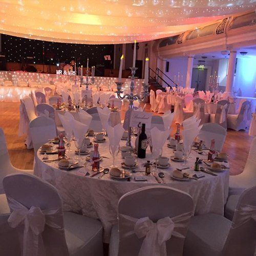 Wedding and event decoration services in greenock tables and chairs arranged junglespirit Gallery