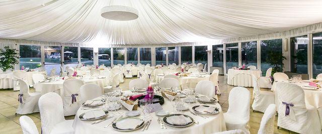 wedding dining set-up