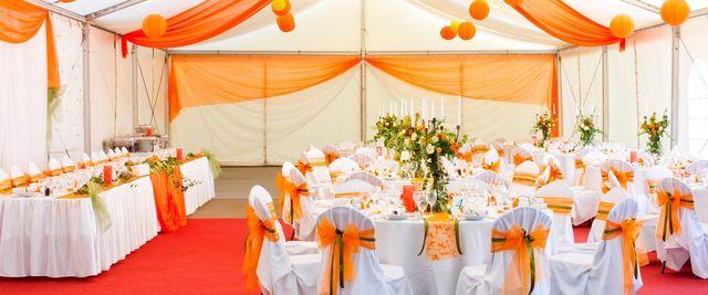 orange decor catering