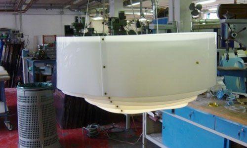 copertura lampadario in plexiglass