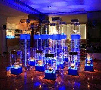 plexiglass luminoso per esposizioni