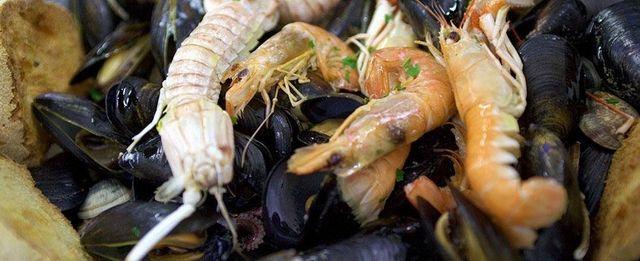 Antipasto di molluschi e crostacei