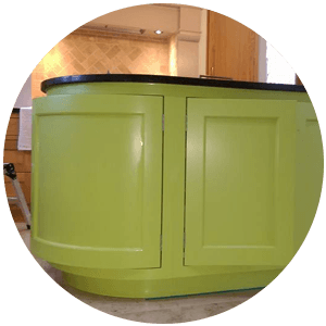 green worktop storage