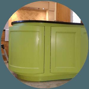 green worktop storage