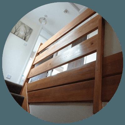 wooden slabs after varnish