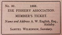 Dr English's EFA ticket 1866