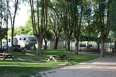 Tent space at Downata Hot Springs Campground