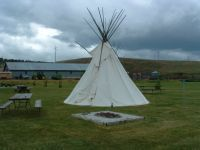 Tepee and firepit