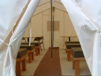 Wall Tent for rent at Downata