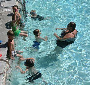 Swimming lessons at Downata Hot Springs