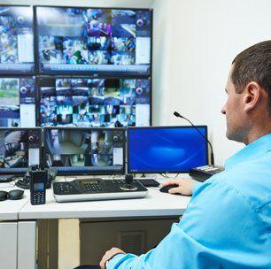 Remotely monitored CCTV