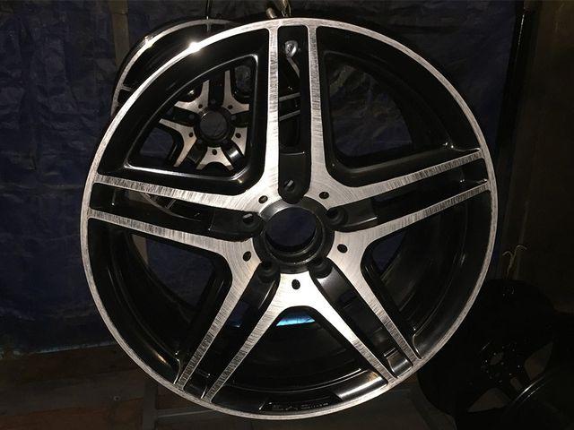 tires on white background