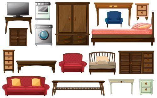 dei disegni di mobili, divani e altro