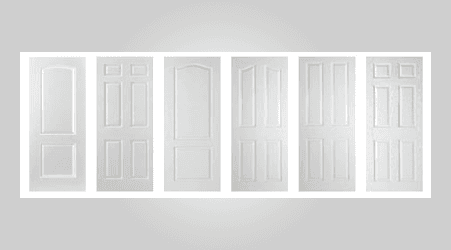 white moulded doors