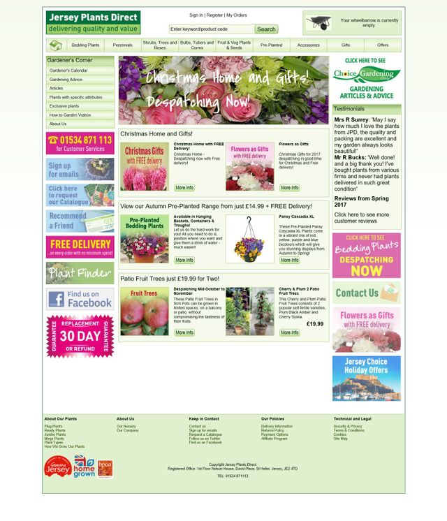Jersey Plants Direct Re A Mail Order Bedding Plant Nursery Based In Ing Full Year Round Range Of Grown Shrubs And Bulbs